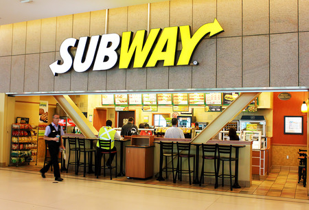 Subway fast food restaurant