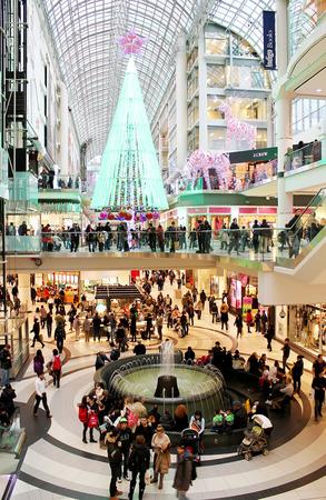 Christmas shopping at Toronto Eaton Centre