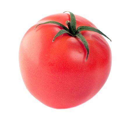 tomato is isolated on white background photo