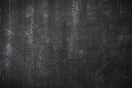 abstract dirty black concrete wall with white stains background texture with copy space