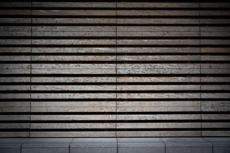 horizontal striped background template stage facade old wood or stone texture