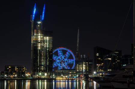 Melbourne, Australia - January 6, 2017: Melbourne Star observation wheel at Docklands in Melbourne.