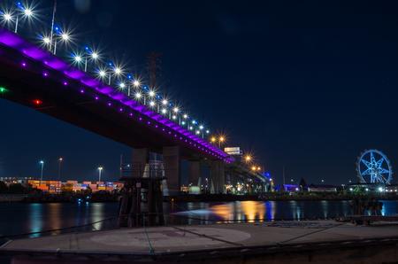 Bolte Bridge crossing the Yarra River at Docklands in Melbourne, Australia