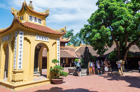 Hanoi, Vietnam - August 16, 2015: Tran Quoc Pagoda on West Lake is the oldest Buddhist temple in Hanoi. Editorial