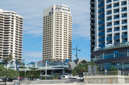 surfers paradise: Gold Coast, Australia - July 11, 2017: Novotel hotel at Surfers Paradise. Novotel is part of the Accor hotel group. Editorial