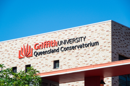 Brisbane, Australia - July 9, 2017: Griffith University Queensland Conservatorium at Southbank. It has 45000 students across 5 campuses.