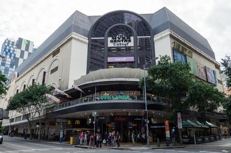 shopfront: Brisbane, Australia - July 9, 2017: The Meyer Centre is a large shopping mall on Elizabeth Street and Queen Street Mall in central Brisbane.