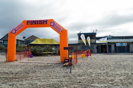 Melbourne, Australia - 11 de febrero de 2017: Aspendale Life Saving Club en la playa de Aspendale en los suburbios del sudeste de Melbournes. Foto de archivo - 87196352