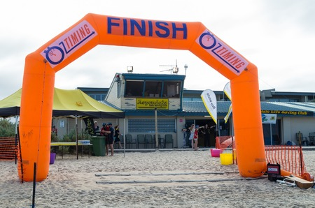Melbourne, Australia - February 11, 2017: Aspendale Life Saving Club on Aspendale Beach in Melbournes south eastern suburbs. Editorial