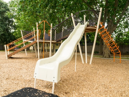 Suburban playground in a public park in Hawthorn in Melbourne, Australia.