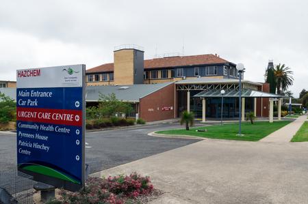 Ararat, Australia - October 22, 2017: East Grampians Health Service operates the Ararat Hospital in western Victoria. Ararat Hospital is a public hospital. Editorial