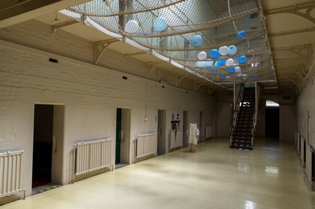Ararat, Australia - October 22, 2017: interior of J Ward, the former asylum for the criminally insane and part of the Aradale Lunatic Asylum. J Ward closed in 1991. Editorial