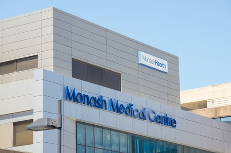 Melbourne, Australia - November 19, 2017: Monash Medical Centre is a teaching hospital in Clayton in Melbournes south-east. It is affiliated with Monash University.