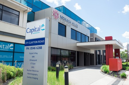 Melbourne, Australia - November 19, 2017: Monash House Private Hospital is a day hospital providing pain management and plastic surgery.