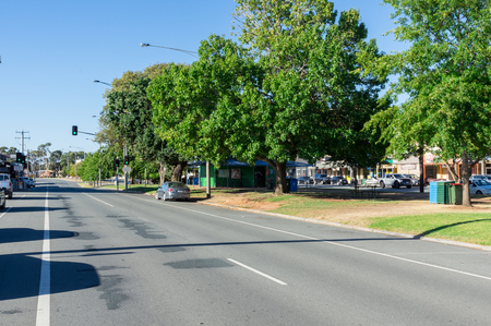 Nagambie, Australia - March 12, 2018: High Street is the main street running through Nagambie in Shire of Strathbogie in Victoria. Editorial