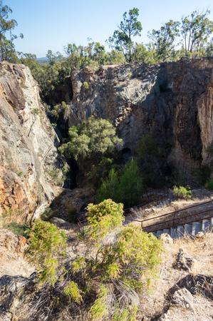 Historic Balaclava Mine goldmine in Whroo near Rushworth in central Victoria, Australia.