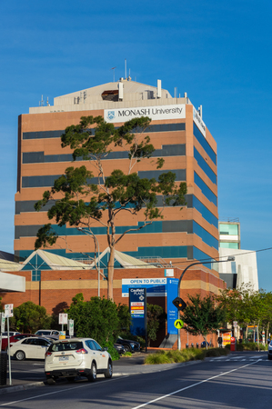 Caulfield, Australia - February 17, 2018: Monash University is a public research university with 72000 students. The Caulfield campus is its second largest campus.