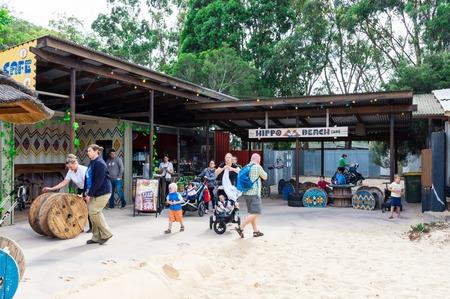 Melbourne, Australia - February 28, 2018: Hippo Beach is the hippopotamus facility as Werribee Open Range Zoo on the western fringe of Melbourne.