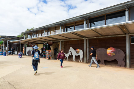 Melbourne, Australia - February 28, 2018: Werribee Open Range Zoo is a large African themed zoo on the western fringe of Melbourne. It opened in 1983.