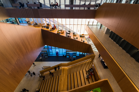 Melbourne, Australia - August 5, 2018: the Learning and Teaching Building of the Monash University Clayton Education Faculty was opened in 2018. It was designed by John Wardle Architects.