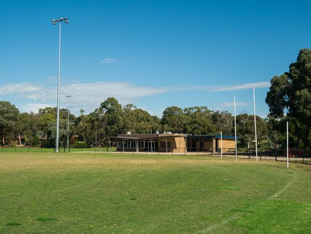 Heatherdale Reserve in Mitcham in suburban Melbourne features an oval used for cricket and Australian rules football.