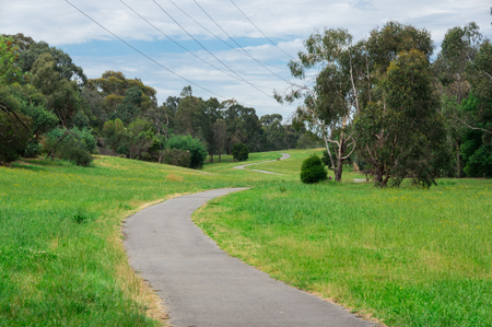 Green Gully Linear Park in Templestowe in the north-eastern suburbs of Melbourne, Australia. Reklamní fotografie