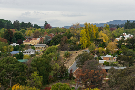 View of Beechworth in Indigo Shire in north eastern Victoria, Australia.
