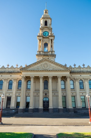 South Melbourne Town Hall is a civic building built in 1879. It is now located in the City of Port Phillip. It was designed by Charles Webb.