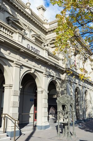 Melbourne, Australia - June 9, 2019: The former North Melbourne Town Hall on Errol and Queensberry Streets was built in 1876. It is now used as an Arts House and post office. Editorial