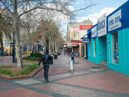 Melbourne, Australia - July 31, 2019: McCrae Street mall is a pedestrian mall in the central retail precinct of Dandenong in outer south-eastern Melbourne. Editorial
