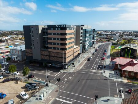 Melbourne, Australia - August 22, 2019: Quest Dandenong Central is a serviced apartment complex on Walker Street in central Dandenong.