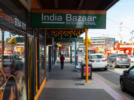 Melbourne, Australia - August 22, 2019: India Bazaar International is an Indian spice and grocery store in the heart of Little India on Foster Street in Dandenong. Editorial