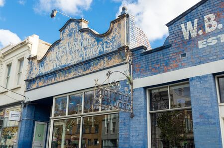 Melbourne, Australia - June 9, 2019: Auction Rooms Cafe is a rustic cafe on Errol Street in North Melbourne.