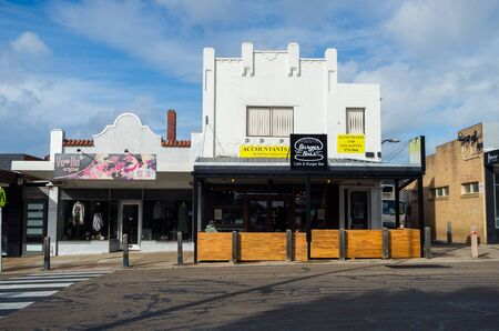 Melbourne, Australia - August 10, 2019: Shops on Station Street in Seaford, a beachside suburb in the City of Frankston in south-eastern Melbourne. Editorial