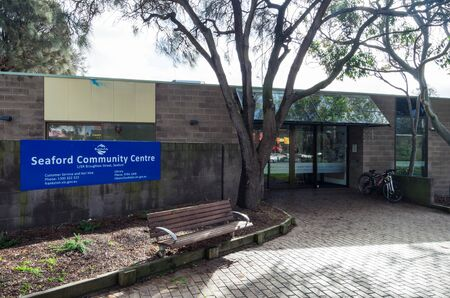 Melbourne, Australia - August 10, 2019: Seaford Community Centre on Station Street in Seaford, a bayside suburb in the City of Frankston.