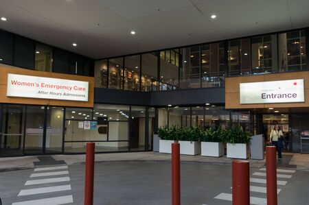 Melbourne, Australia - June 7, 2019: The Royal Women's Hospital is a specialist maternity, gynaecology, neonatal and women's health hospital.