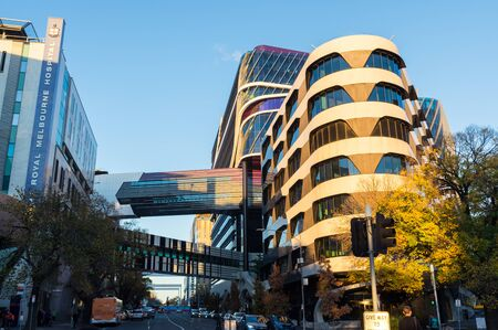 Melbourne, Australia: June 7, 2019: The Victorian Comprehensive Cancer Centre is a multi-site, multi-disciplinary specialist cancer hospital and research centre located in Melbourne, Victoria, Australia.