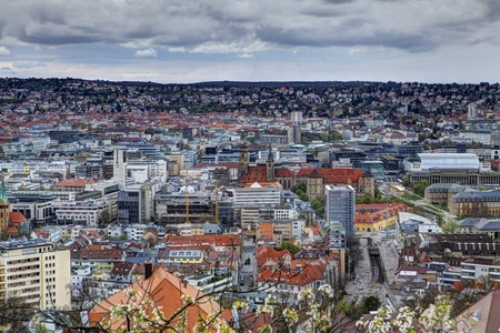 panorama of stuttgart city in germany
