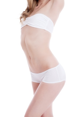 beautiful blond woman with perfect body isolated Stock Photo - 13612500