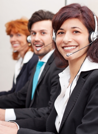 callcenter service communication in office operator photo