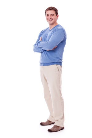 adult caucasian man in casual outfit isolated on white background Stock Photo - 17449301