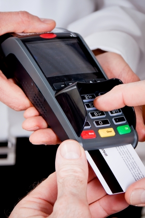 Sie bezahlen mit Kreditkarte