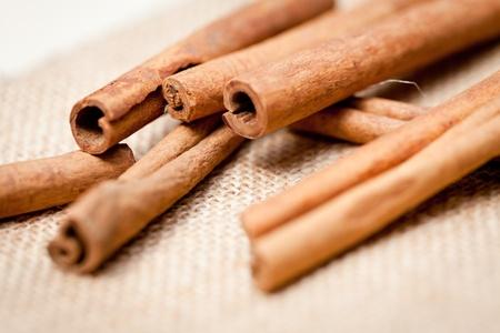 aromatic cinnamon sticks detail macro closeup christmas wintertime Stock Photo - 20853678