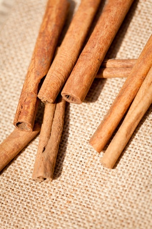 aromatic cinnamon sticks detail macro closeup christmas wintertime Stock Photo - 20853681