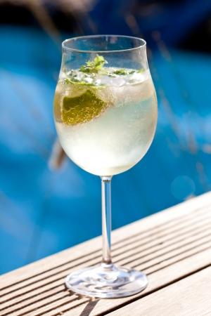 hugo: hugo prosecco elderflower soda ice summer drink