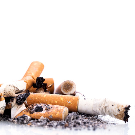 stop smoking cigarettes ashtrey nicotine closeup isolated object Фото со стока