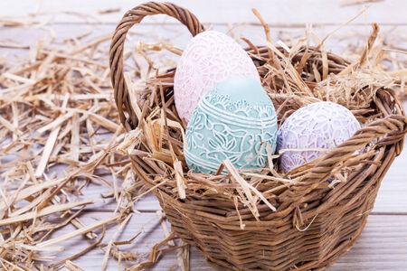 beautiful easter egg decoration colorfull eggs seasonal pastel colors bright