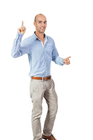 jubilation: Man cheering in jubilation to celebrate an achievement or success raising his fists and punching the air, isolated on white