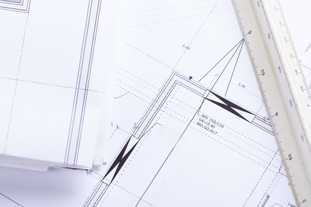 architecture plans: architect blueprints equipment objects workplace paper office