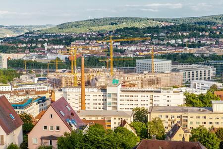 Vista De La Terraza Panorámica De Stuttgart Alemania